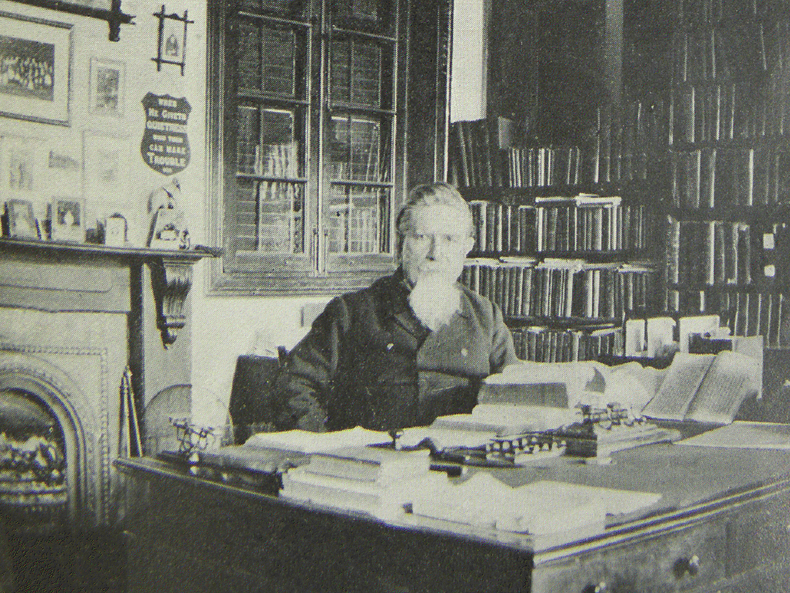 Griffith John at his desk