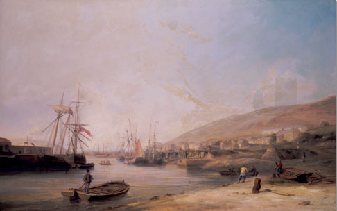 View of Hafod Copper Works - James Harris Snr. [Click to enlarge image]