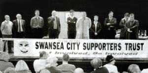 27th August 2001 - Swansea City Supporters Trust launched at Patti Pavillion [Click to enlarge image]