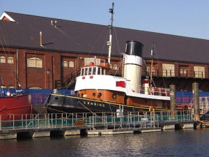 Tug boat Canning - one of Swansea Museum's floating exhibits
