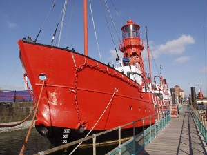Helwick Lightship - one of Swansea Museum's floating exhibits