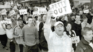 Petty out demonstration in Swansea [Click to enlarge the image]