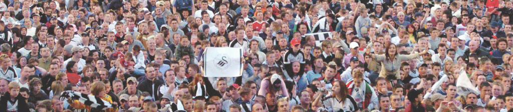 Swansea City Football fans [Click to enlarge image]