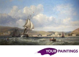 Oystermouth from the Sea by James Harris Senior