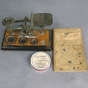 Wartime Chemist's Formulary, Scales and Pill Box