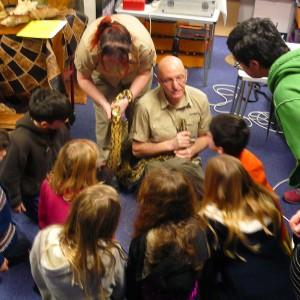 Geraint The Snakeman at Swansea Museum