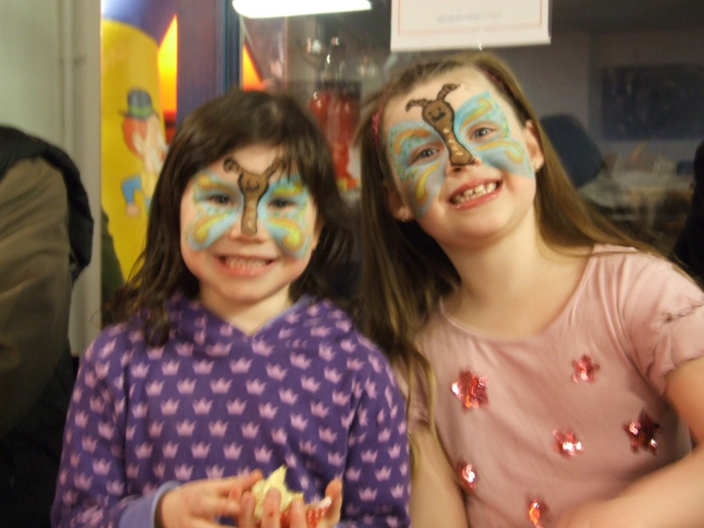 Children at the Easter fun day.