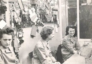 Female workers at the Mettoy factory in the 1950s.