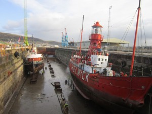 Helwick and Canning at Dry Dock
