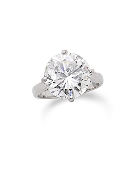 The brilliant-cut diamond, weighing 7.31 carats, in a four-claw platinum mount, UK hallmark, ring size M  Sold for £27,000