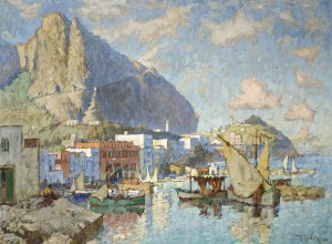 An item that was consigned into the Cardiff office, it just goes to prove that value can be found so close by. Konstantin Ivanovich Gorbatoff (Russian, 1876-1945) 'Capri'  Sold in 2011 for £80,000