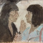5. Bernice Rubens and Beryl Bainbridge, 1995. Oil on canvas
