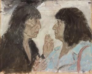 5. Bernice Rubens and Beryl Bainbridge, 1995. Oil on canvas